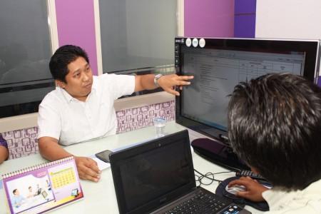 bpk Ery Haryono dinas pendidikan kab kukar menjelaskan alur untuk sim-keuangan