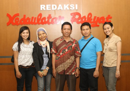 Kunjungan ke Redaksi KR dalam rangka Pelatihan Jurnalistik Web