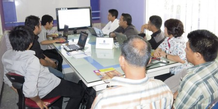 Pelatihan Tata Naskah Kepegawaian Elektronik yang diikuti oleh Dinas Pendidikan Kabupaten Kutai Kartanegara