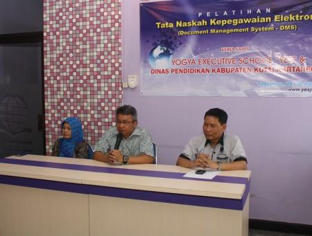 Pembukaan Pelatihan Tata Naskah Kepegawaian Elektronik