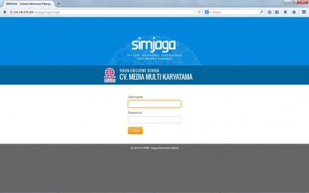 Menu Login Aplikasi Sistem Informasi Manajemen Penjagaan Pegawai (SIMJAGA)