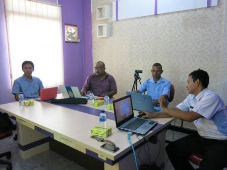 Pelatihan Sistem Informasi Database Kabupaten (Simdaten) dariDinas Komunikasi dan Informatika Kabupaten Boven Digoel
