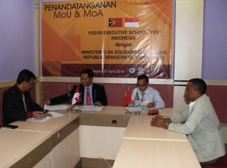 Penandatanganan Perjanjian Kerjasama Pelatihan bidang Pengembangan Sumber Daya Manusia dan Teknologi Informasi (e-Government) Timor Leste