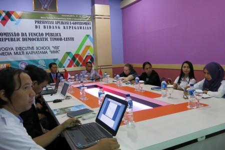 Presentasi Aplikasi Kepegawaian CFP Timor Leste