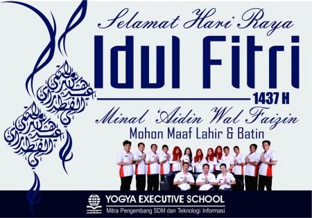 Yogya Executive School (YES) mengucapkan Selamat Hari Raya Idul Fitri 1437 H
