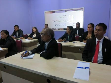 Pelatihan Pengembangan SDM Ministry of Justice Republic Democratic Timor Leste