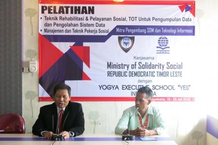 Pelatihan SDM MSS Timor Leste