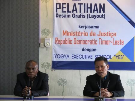 Penutupan Pelatihan Desain Grafis Ministry of Justice Republic Democratic Timor-Leste