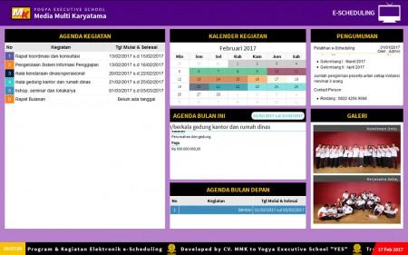Pelatihan e-Government sistem penjadwalan program dan kegiatan berbasis teknologi informasi dengan aplikasi e-Scheduling