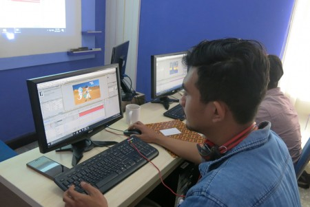 Pelatihan Video Editing Perum PERURI Oktober 2017