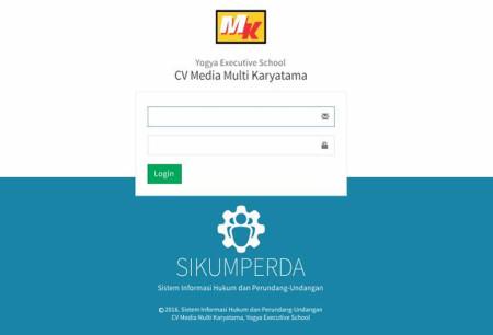 Pelatihan Sistem Informasi Hukum dan Peraturan Perundang-Undangan (SIKUMPERDA) Yogya Executive School (YES Jogja) 09 Januari 2018