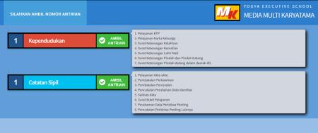Pelatihan Sistem Informasi Pelayanan Antrian Prima (SIMPRIMA) Yogya Executive School (YES Jogja) 9 Januari 2018
