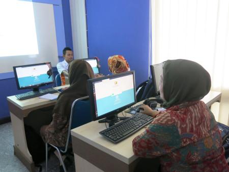 Pelatihan SIMPRIMA (Sistem Informasi Pelayanan Antrian Prima) Politeknik Negeri Sriwijaya (POLSRI) Februari 2018