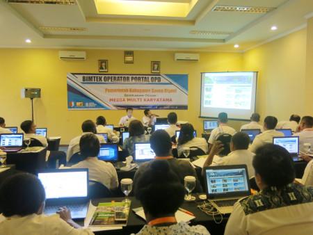 Bimtek Operator Portal (OPD) Pemerintah Kabupaten Boven Digoel Provinsi Papua Maret 2018