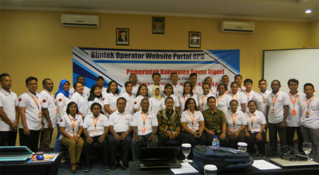 Implementasi Teknologi Informasi (TI) - Bimtek Operator Website Portal OPD - Pemerintah Kabupaten Boven Digoel Provinsi Papua Mei 2018
