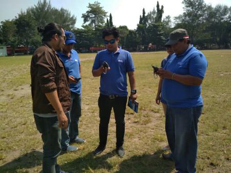 Pelatihan Pengukuran GPS Dinas Penanaman Modal dan Pelayanan Terpadu Satu Pintu Kab Merauke Prov Papua Mei 2018