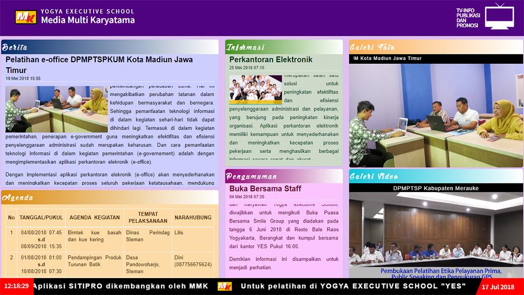 Sistem Informasi Tv Info Publikasi Dan Promosi Sitipro Yogya Executive School