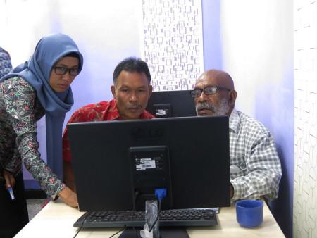 Pelatihan Sistem Informasi Geografis (SIG) DPMPTSP Kabupaten Boven Digoel Provinsi Papua September 2018