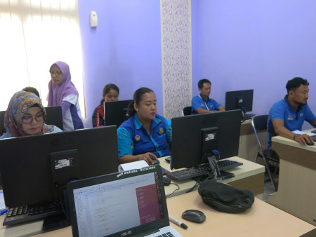 Pelatihan E-Office Dinas Tanaman Pangan, Hortikultura, Peternakan & Perikanan Kab Boven Digoel Oktober 2018