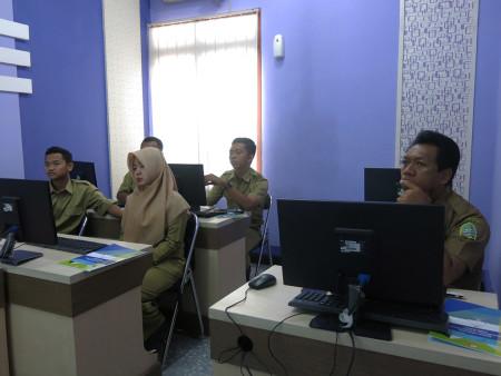 Pelatihan Sistem Informasi Manajemen Pelayanan Antrian Prima (SIMPRIMA) Dinas Pendidikan Gunung Kidul Oktober 2018