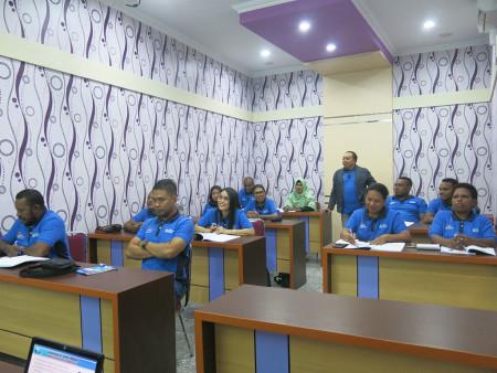 Pelatihan Etika Pelayanan Prima DPMPTSP Kabupaten Boven Digoel Provinsi Papua November 2018