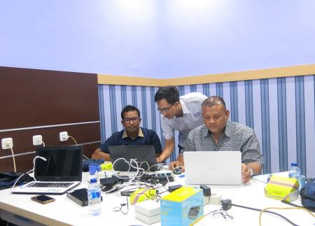 Pelatihan Jaringan Mikrotik Router OS pada pengaturan Bandwidth Management Maret 2019