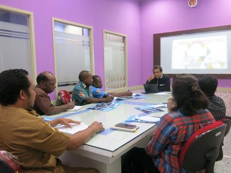 Pelatihan Pengembangan SDM Bagian Humas Sekretariat Daerah (SETDA) Kabupaten Lanny Jaya Maret 2019