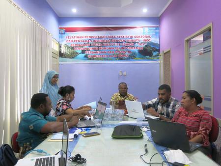 Pelatihan Perkantoran Elektronik dengan aplikasi SIMDATA-INFO Dinas Komunikasi dan Informatika Persandian dan Statistika Kabupaten Raja Ampat