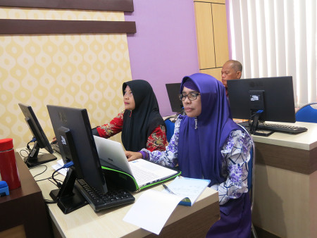 Pelatihan Sistem Informasi Manajemen Sasaran Kinerja Pegawai (E-SKP) DISKOMINFO, Statistik dan Persandian Kabupaten Fakfak April 2019