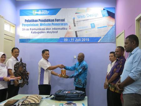 Pelatihan Pendidikan Formal Pengelolaan Website Pemerintah DISKOMINFO Kabupaten Maybrat Juli 2019