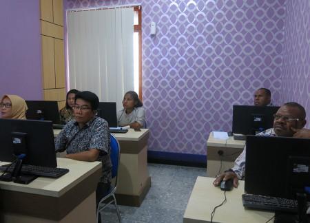 Pelatihan Perkantoran Elektronik DINKES Kabupaten Boven Digoel Provinsi Papua Juli 2019