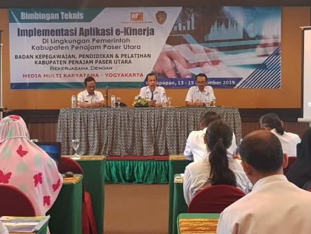 In House Training Implementasi Aplikasi e-Kinerja BKPP Kabupaten Penajam Paser Utara November 2019