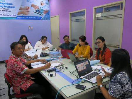 Pelatihan Analisis Pengelolaan Data Program Kesehatan Dinas Kesehatan Pengendalian Penduduk Kab Malinau Oktober 2019